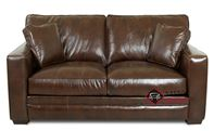 Chandler Leather Loveseat by Savvy
