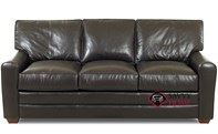 Halifax Queen Leather Sofa Bed by Savvy