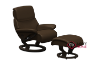 Dream Small Recliner and Ottoman by Stressless (formerly Vision)