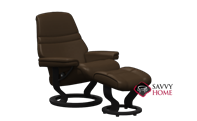 Sunrise Small Recliner and Ottoman by Stressless - 2 Base Options