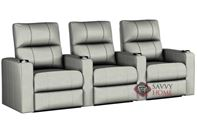 Springfield 3-Seat Leather Reclining Home Theater Seating (Straight) by Savvy--Power Upgrade Available