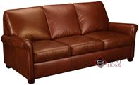 Prince Leather Sofa with Pocket-Coils by Leather Living