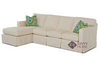 Jersey Large Chaise Sectional Sofa Bed with Slipcover by Savvy