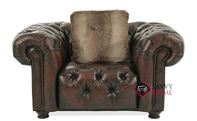 Wellington Leather Chair with Down-Blend Cushion by Bernhardt in 299-220