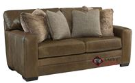 Tolbert Leather Loveseat with Down-Blend Cushions by Bernhardt in 159-220