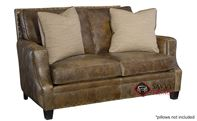 Barclay Leather Loveseat with Down-Blend Cushions by Bernhardt in 259-020