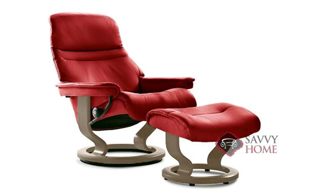 Sunrise Large Recliner and Ottoman by Stressless