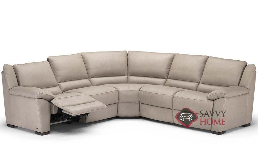 genoa  a319  leather true sectional by natuzzi is fully