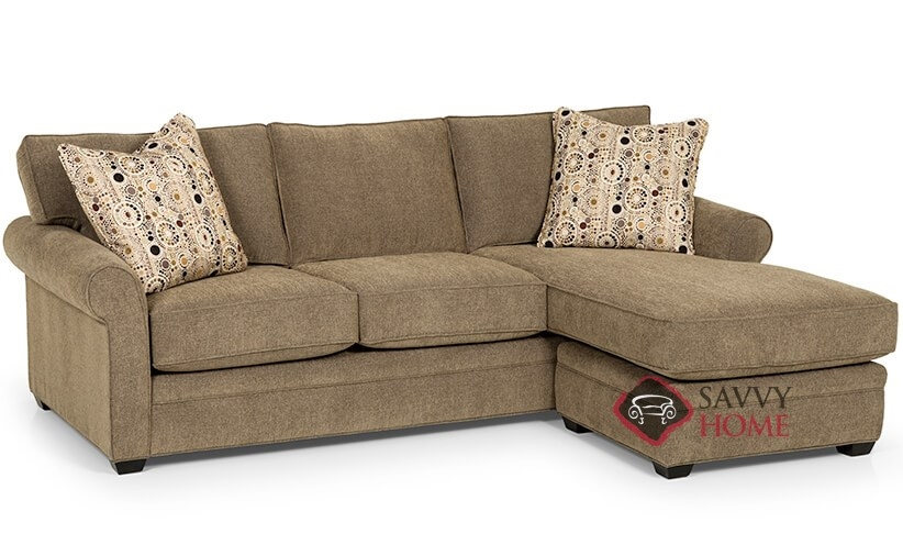 283 Fabric Chaise Sectional By Stanton Is Fully