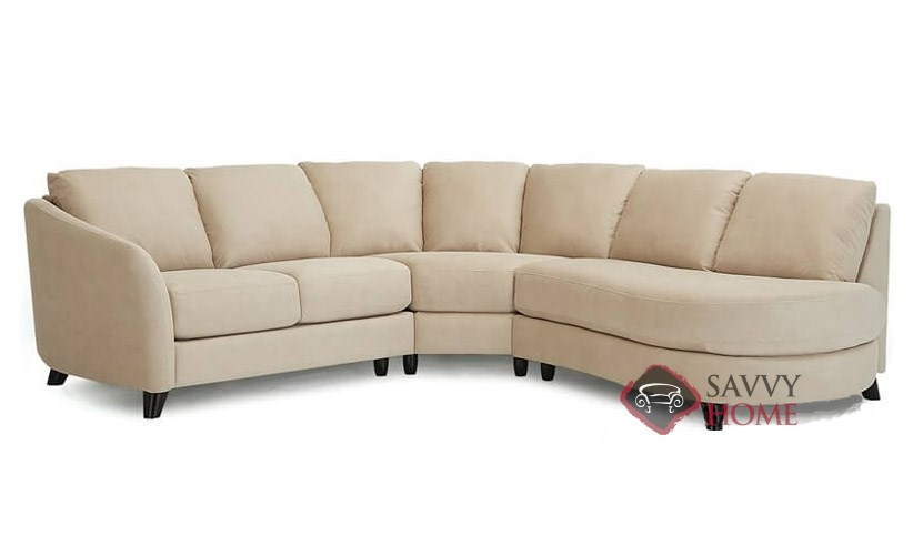 Alula fabric chaise sectional by palliser is fully for Sectional sofa with angled chaise