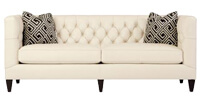 Beckett Leather Sofa with Down-Blend Cushions by Bernhardt Interiors
