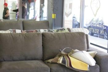 Sofa on a sunny day