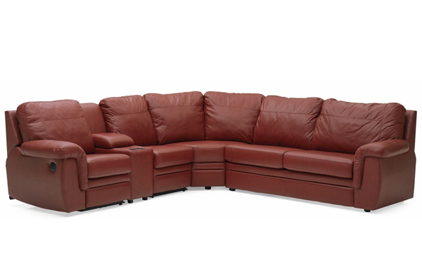 Brunswick Reclining True Sectional Sleeper with Console