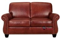 Victoria Leather Loveseat with Pocket-Coils by ...