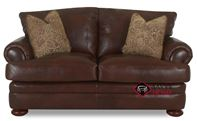 Montezuma Leather Loveseat with Down-Blend Cush...