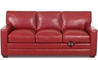 Palo Alto Queen Leather Sofa Bed by Savvy--Down-Blend Option Available