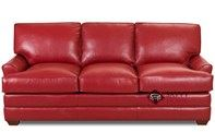 Gold Coast Queen Leather Sofa Bed by Savvy--Down-Blend Option Available