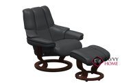 Reno Medium Recliner and Ottoman by Stressless - 3 Base Options
