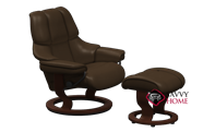 Reno Small Recliner and Ottoman by Stressless -...