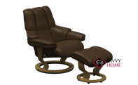 Reno Medium Recliner and Ottoman by Stressless ...
