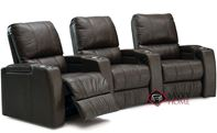 Playback 3-Seat Top-Grain Leather Reclining Home Theater Seating (Curved) by Palliser--Power Upgrade Available
