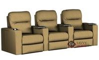 Pleasantville 3-Seat Reclining Home Theater Seating (Curved) by Savvy--Power Upgrade Available