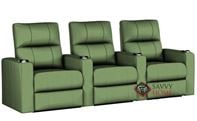 Springfield 3-Seat Reclining Home Theater Seating (Straight) by Savvy--Power Upgrade Available