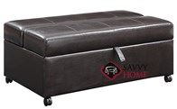 Hide-A-Way Ottoman Twin Sofa Bed by Emerald Home Furnishings