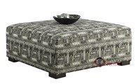Belgian II Cocktail Ottoman in Municipal Charcoal by Emerald Home Furnishings