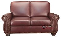 Taylor Leather Loveseat with Pocket-Coils by Le...