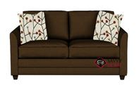 Valencia Full Sleeper Sofa by Savvy in Microsuede Chocolate