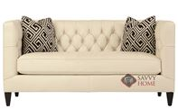 Beckett Leather Loveseat with Down-Blend Cushions by Bernhardt Interiors