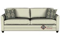 Valencia Queen Sleeper Sofa by Savvy in Microsuede Oyster