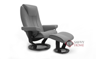 Bliss Small Recliner and Ottoman by Stressless ...