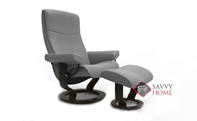 Peace Small Recliner and Ottoman by Stressless - 2 Base Options