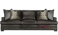 Cantor Leather Sofa with Down-Blend Cushions by Bernhardt