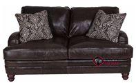 Tarleton Leather Loveseat with Down-Blend Cushi...