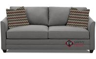 Valencia Queen Sleeper Sofa by Savvy in Oakley Graphite