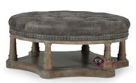 Belgian Oak Cocktail Ottoman by Bernhardt