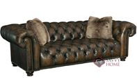 Wellington Leather Sofa with Down-Blend Cushions by Bernhardt in 299-220