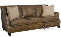 Barclay Leather Sofa with Down-Blend Cushions by Bernhardt in 259-020