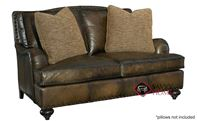 Fulham Leather Loveseat with Down-Blend Cushion...