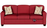 Zurich Queen Sleeper Sofa by Savvy in Oakley Tomato
