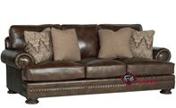 Foster Leather Sofa with Down-Blend Cushions by Bernhardt in 266-220