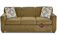 Geneva Queen Sleeper Sofa by Savvy in Empire Moss