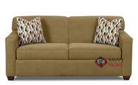 Geneva Full Sleeper Sofa by Savvy in Empire Moss