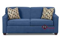Geneva Full Sleeper Sofa by Savvy in Empire Indigo