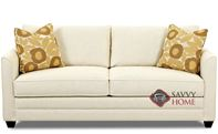 Valencia Queen Sleeper Sofa by Savvy in Goldmine Pearl