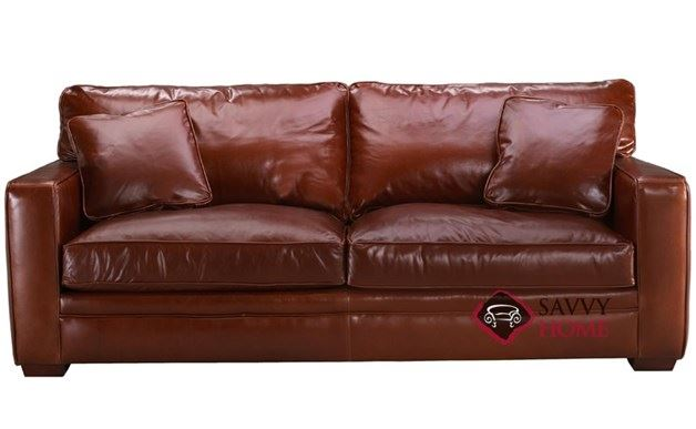 Houston Queen Leather Sleeper Sofa