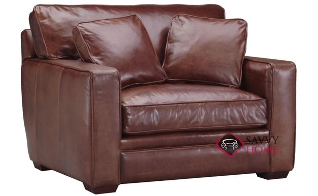 Houston Leather Chair Sideview